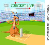 vector illustration of kangaroo ...   Shutterstock .eps vector #254070838