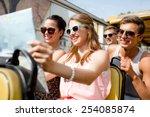 friendship  travel  vacation ... | Shutterstock . vector #254085874