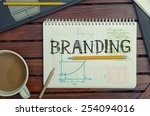 work place with notebook with... | Shutterstock . vector #254094016