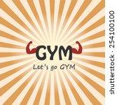 gym logo. concept of fitness ... | Shutterstock .eps vector #254100100