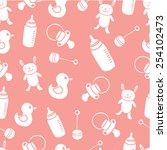 baby pattern | Shutterstock .eps vector #254102473