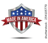 made in the usa   shield | Shutterstock .eps vector #254105770