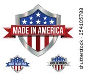 made in the usa   shield | Shutterstock .eps vector #254105788