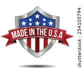 made in the usa   shield | Shutterstock .eps vector #254105794