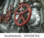 Pipes And Valves With Red Knobs ...