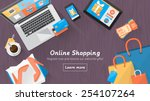 online shopping concept desktop