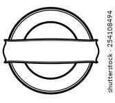 round stamp with rectangular   Shutterstock .eps vector #254108494