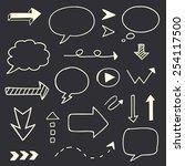 hand drawn arrows speech bubble ... | Shutterstock .eps vector #254117500