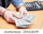 Money Bribe Or Corruption Theme....