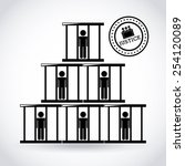 justice concept design  vector...   Shutterstock .eps vector #254120089