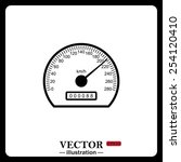 black icon on white background. ... | Shutterstock .eps vector #254120410