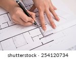 architectural design and... | Shutterstock . vector #254120734