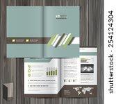 classic brochure template... | Shutterstock .eps vector #254124304