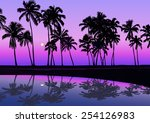 Tropical Seashore With Palms I...