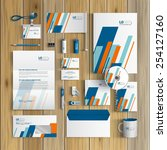 white corporate identity... | Shutterstock .eps vector #254127160