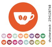 the coffee and cup icon. coffee ... | Shutterstock .eps vector #254128768