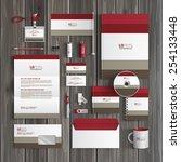 classic corporate identity... | Shutterstock .eps vector #254133448