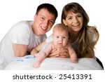 young mother and father holding ... | Shutterstock . vector #25413391