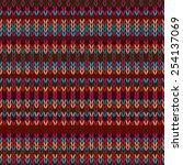 seamless ethnic geometric...   Shutterstock . vector #254137069