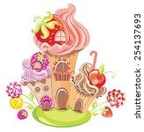 vector illustration of fantasy... | Shutterstock .eps vector #254137693