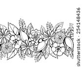 seamless  floral lacy border   Shutterstock .eps vector #254148436