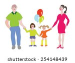 happy family. wife  husband ... | Shutterstock .eps vector #254148439