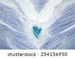 Blue marble onyx - stock photo