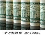 many us dollars in the form of... | Shutterstock . vector #254160583
