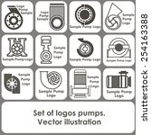 set of logo templates in the... | Shutterstock .eps vector #254163388
