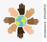 multiethnic community design ... | Shutterstock .eps vector #254163919