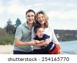 Happy Family Outdoors On A...