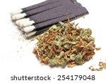 marijuana and tobacco  smoking  | Shutterstock . vector #254179048