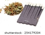 smoking  tobacco and cannabis  | Shutterstock . vector #254179204