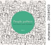 Hand Drawn Vector Pattern With...