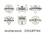 set of hipster emblems isolated ... | Shutterstock .eps vector #254189764