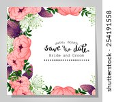wedding invitation cards with... | Shutterstock .eps vector #254191558