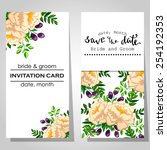 wedding invitation cards with... | Shutterstock .eps vector #254192353