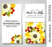 wedding invitation cards with... | Shutterstock .eps vector #254193526