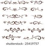 vectorized scroll design....   Shutterstock .eps vector #25419757