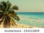 serenity tropical beach | Shutterstock . vector #254212849