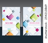 template of brochure design...   Shutterstock .eps vector #254213869