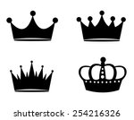 Illustration Of Black Crown...