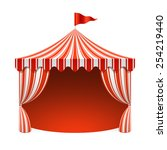 circus tent  poster background. ...   Shutterstock .eps vector #254219440