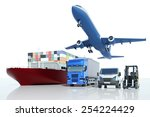 freight transport and logistics ... | Shutterstock . vector #254224429