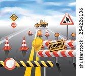 road to horizon under... | Shutterstock .eps vector #254226136