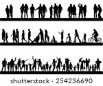 people actively spending time | Shutterstock .eps vector #254236690