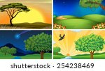 illustration of four scenes of... | Shutterstock .eps vector #254238469
