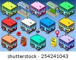 Isometric Rainbow Buses.