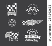 set of vintage car labels and... | Shutterstock .eps vector #254243638