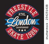 skate sport london typography ... | Shutterstock .eps vector #254251438